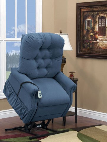 Aaron Williamsburg Blue Wide Petite Three Way Reclining Lift Chair