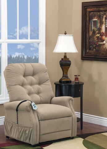 Aaron Light Brown Wide Petite Three Way Reclining Lift Chair