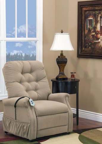 Aaron Light Brown Petite Two Way Reclining Lift Chair