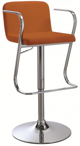 121092 Upholstered Adjustable Bar Stool