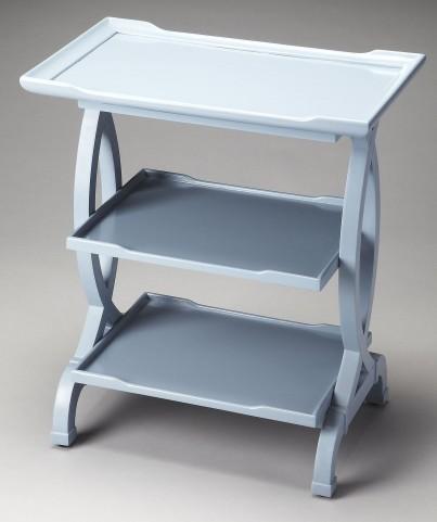 Kimiko Loft Glossy Wedgewood Side Table