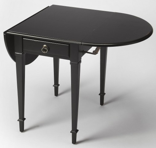 Glenview Black Licorice Pembroke Table
