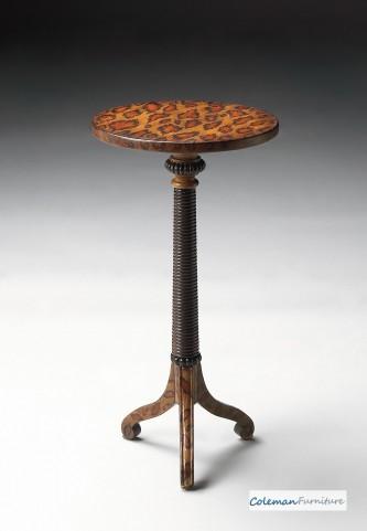 Leopard Spots Pedestal Table