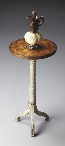 Artists' Originals Toasted Marshmallow Pedestal Table