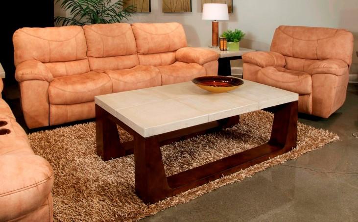 Terrance Caramel Reclining Living Room Set