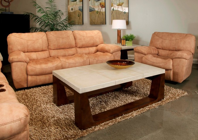 Terrance Caramel Power Reclining Living Room Set