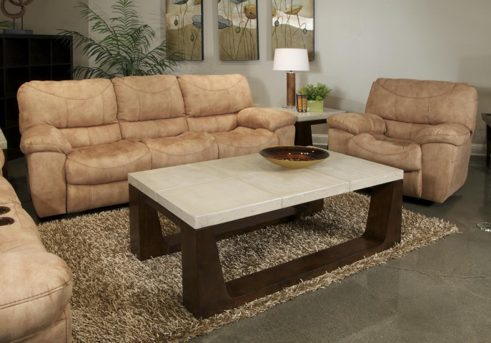 Terrance Caramel Reclining Living Room Set