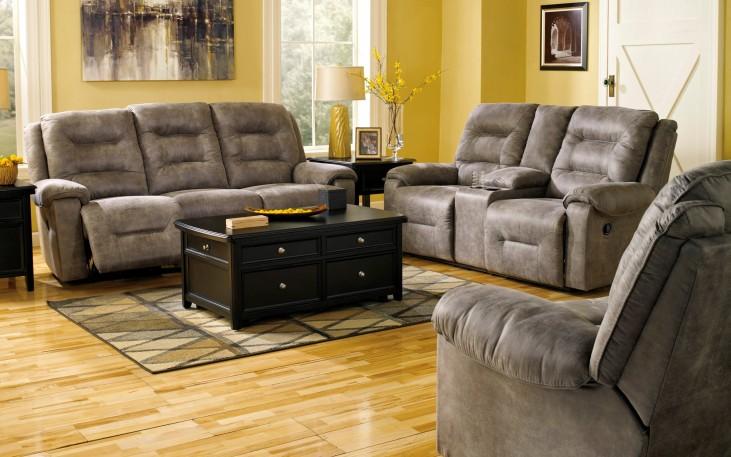 Rotation Smoke Power Reclining Living Room Set