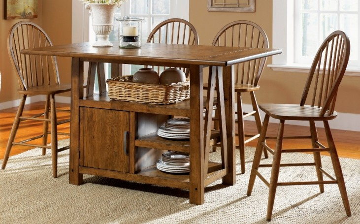 Farmhouse Center Island Dining Set