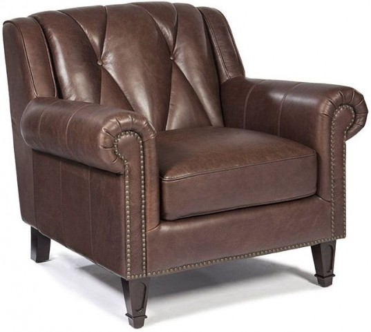 Lucia French Beige Leather Chair
