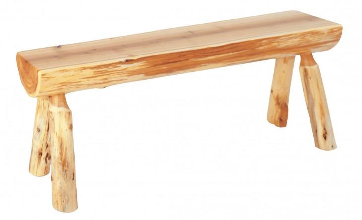 "Cedar 36"" Log Bench"