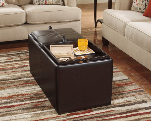 Deshan Accents Mango Ottoman With Storage
