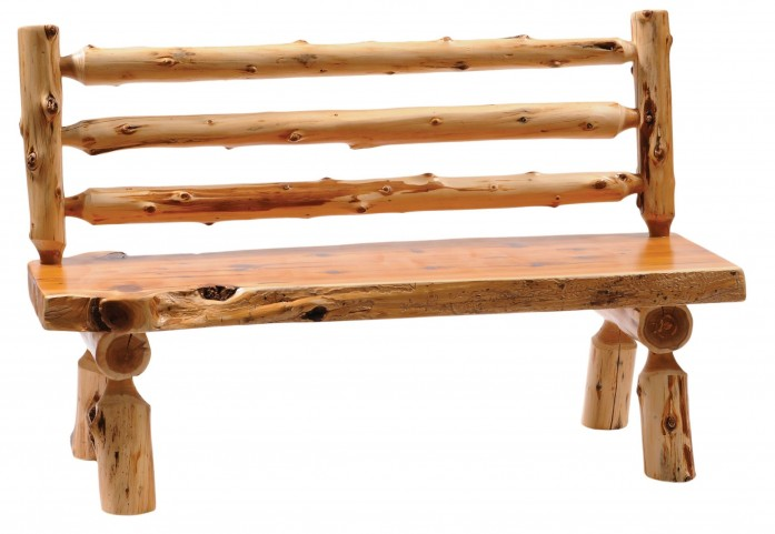 "Cedar 60"" Back Log Bench"