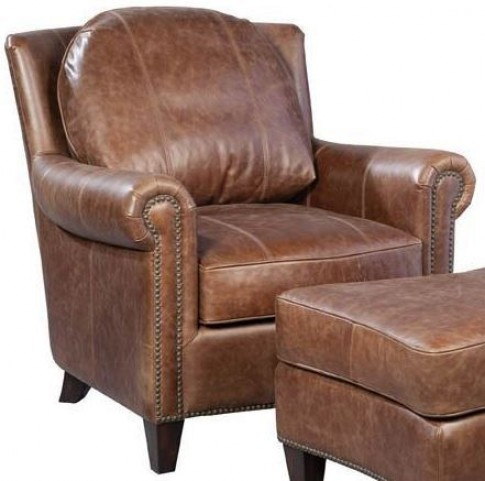 Brandon Chaps Havana Brown Leather Chair