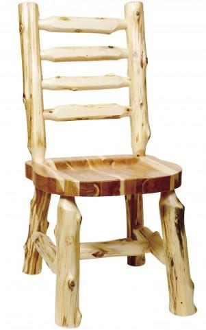 Cedar Ladder Back Log Side Chair