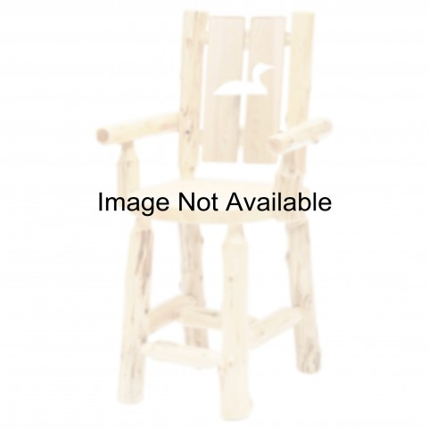 Cedar Cut-Out Pine Tree Counter Height Log Side Chair