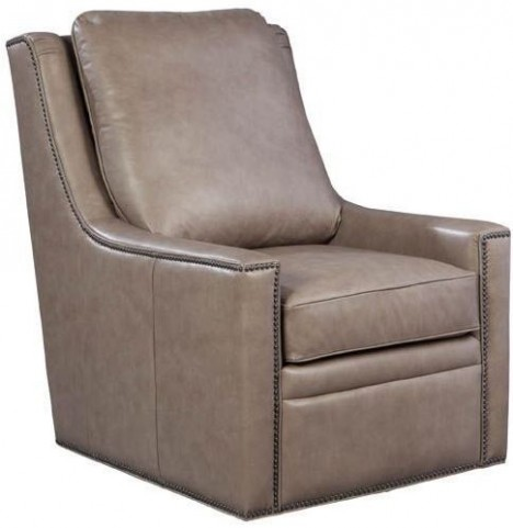 Amanda Cavalier Mushroom Swivel Leather Chair
