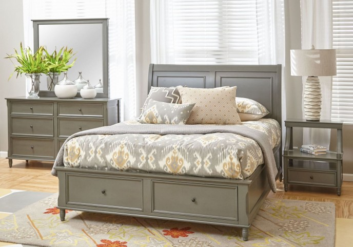 Avignon Grey Storage Bedroom Set