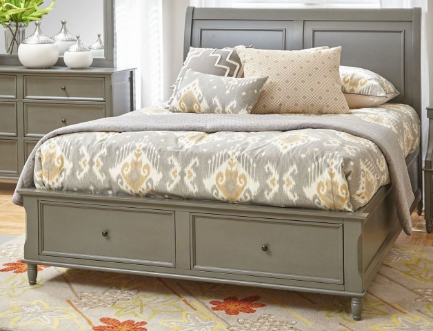 Avignon Grey Queen Storage Bed