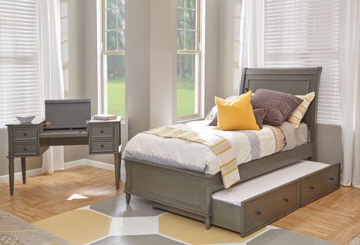 Avignon Grey Youth Trundle Panel Bedroom Set