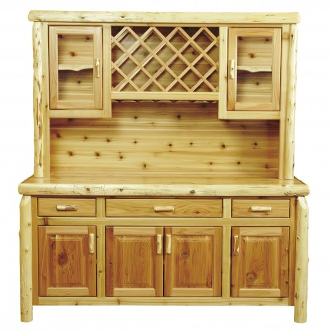 "Cedar 75"" Buffet With Hutch With Wine Rack"