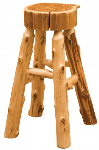 "Cedar 30"" Bar Height Slab Barstool without Back"