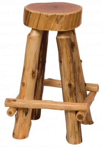 "Cedar 30"" Bar Height Slab Barstool"