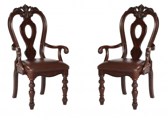 Westchester (Whse) Burnished Cherry Chair, Arm Rta 2/Ctn