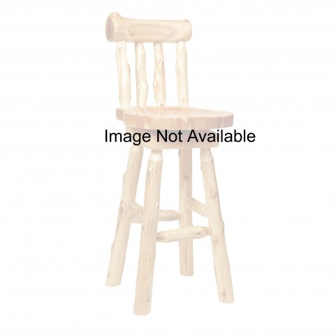 "Cedar 30"" Log Barstool with Backrest"