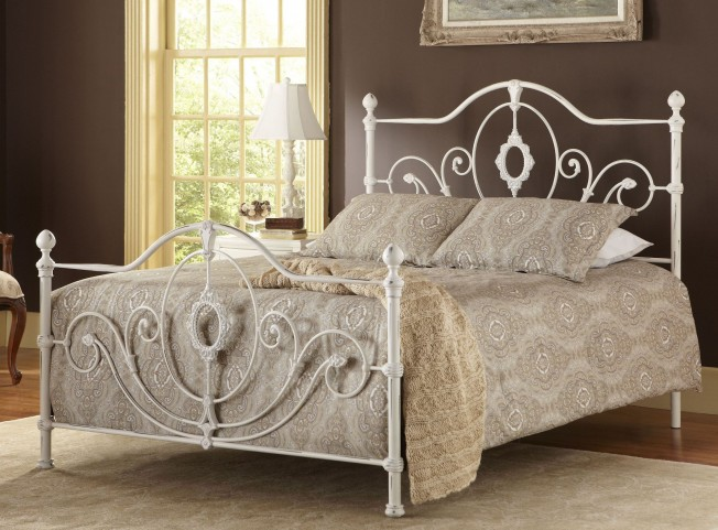 Rosalyn King Metal Panel Bed