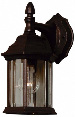 Custom Fit Black 1 Light Wall Lantern
