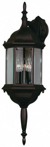 Custom Fit Black 3 Light Wall Lantern