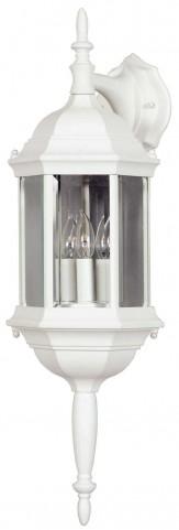 Custom Fit White 3 Light Wall  Lantern