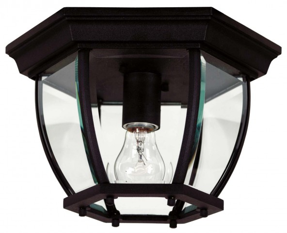Dural Black 1 Light Flush Mount