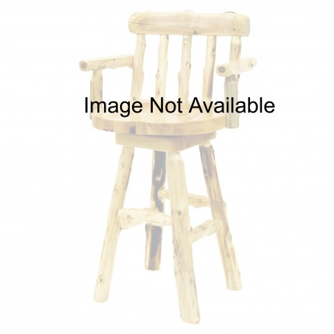 "Cedar 30"" Log Barstool with Arms"