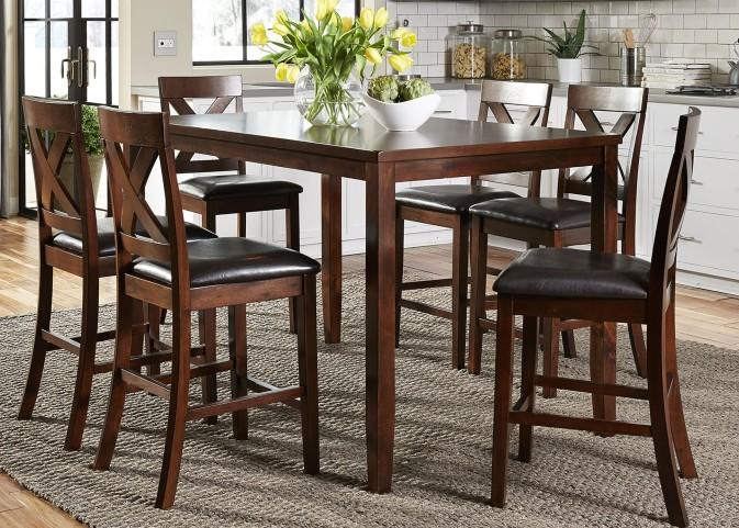 Thornton Russet 7 Piece Gathering Dining Room Set