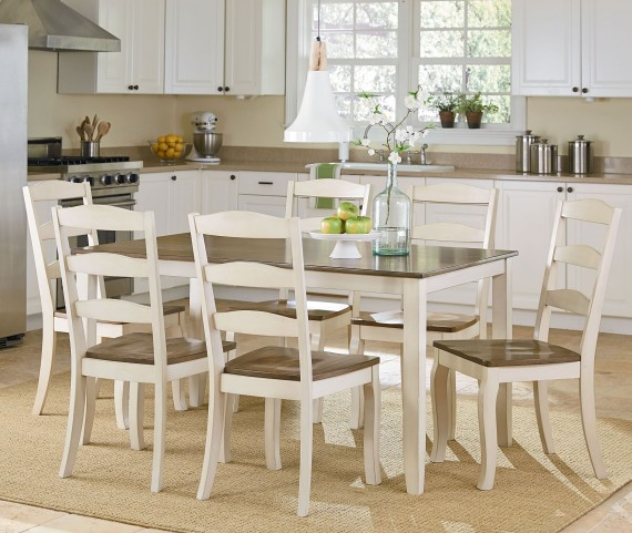 Highland White 7 Piece Dining Room Set