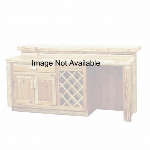 "Cedar Right Side 84"" Standard Cabinet Bar With Armor Finish Tops"