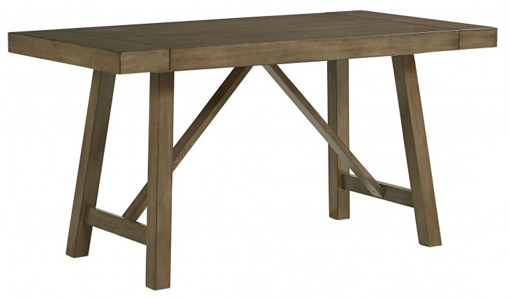 Omaha Weathered Burnished Grey Extendable Counter Height Table