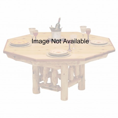 Cedar Liquid Glass Dining Table Cover for 6 Sided Poker Table
