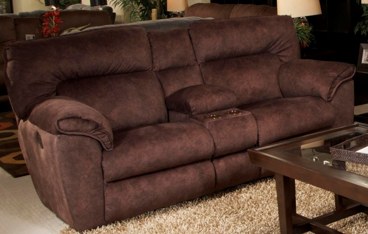 Nichols Chestnut Power Reclining Console Loveseat