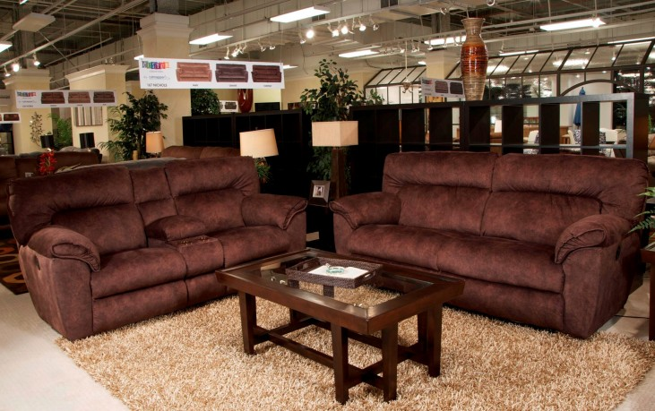 Nichols Chestnut Reclining Living Room Set