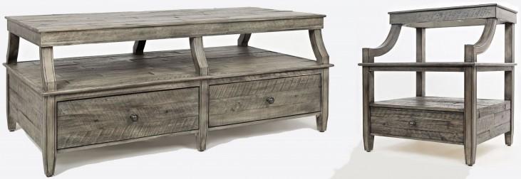 Tremblant Rustic Platinum Occasional Table Set