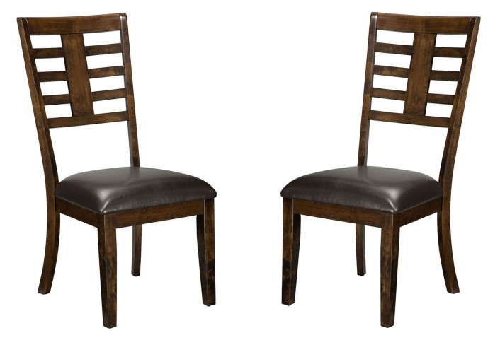 Bella Warm Chocolate Cherry Side Chair Set of 2