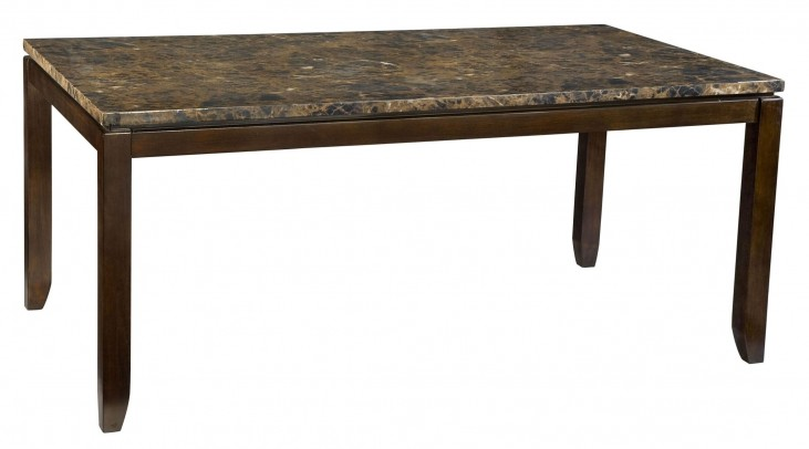 Bella Warm Chocolate Cherry Marbella Topped Rectangular Dining Table