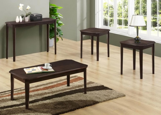 1694P Cappuccino Cherry 3 Piece Table Set