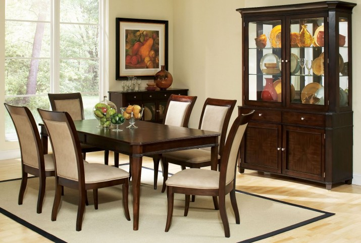 Marseille Merlot Cherry Extendable Rectangular Dining Room Set