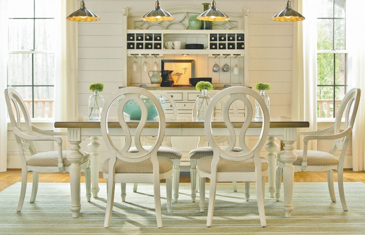 Summer Hill Cotton Rectangular Extendable Dining Room Set