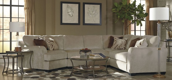 Hazes Fleece LAF Cuddler Loveseat Sectional