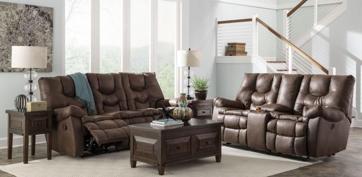 Burgett Espresso Reclining Living Room Set